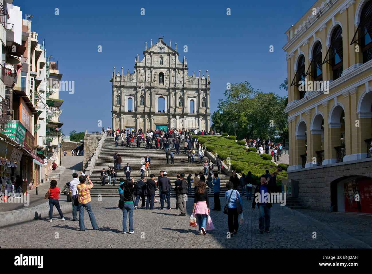 China Asia Macao Macau City Ruins Church St Paul UNESCO World - Where is macau in the world
