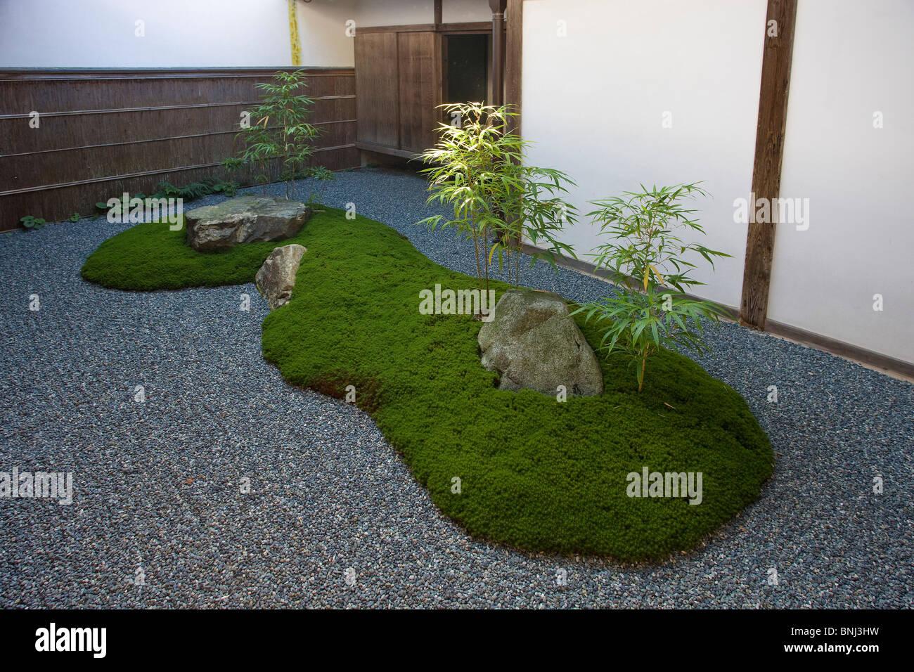 Japanese Rock Garden Japan Asia Kyoto City Town City Sansen Inn Tempe Japanese Rock