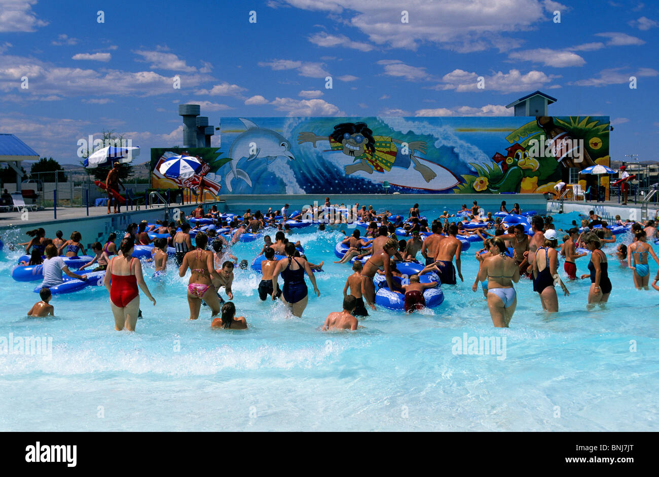 Usa nevada town city swimming pool water park bathing for Garden city swimming pool