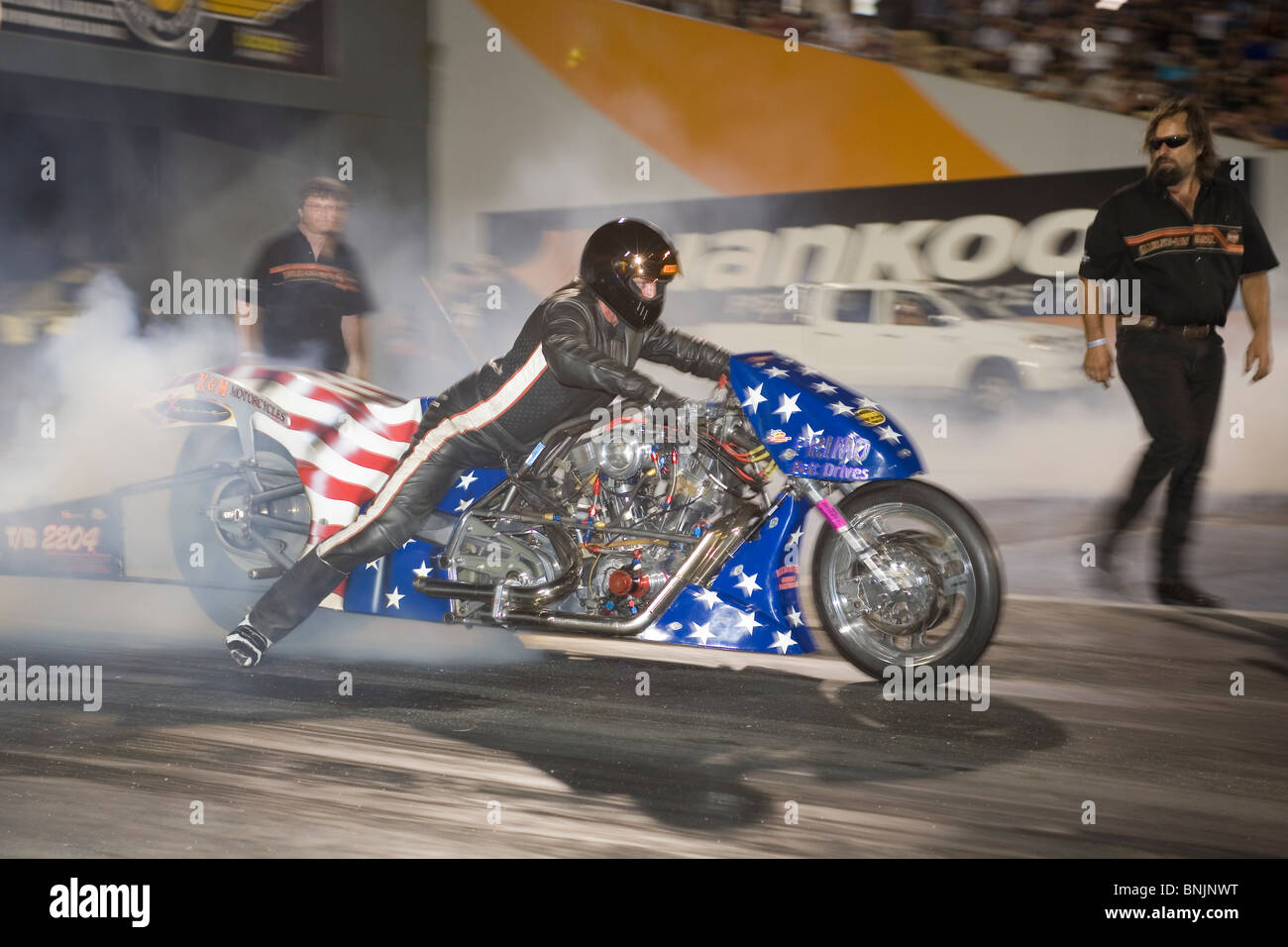 Australian Top Bike Nitro Harley Drag Racing Motorcycle Performing