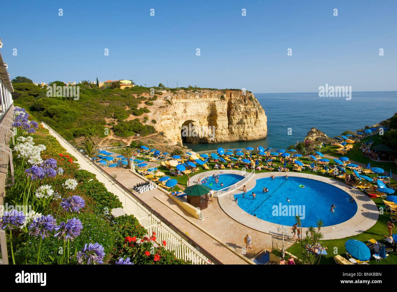 Algarve Portugal Hotel Pool Hotel Swimming Pool Pool Arrangement Pool Stock Photo Royalty Free