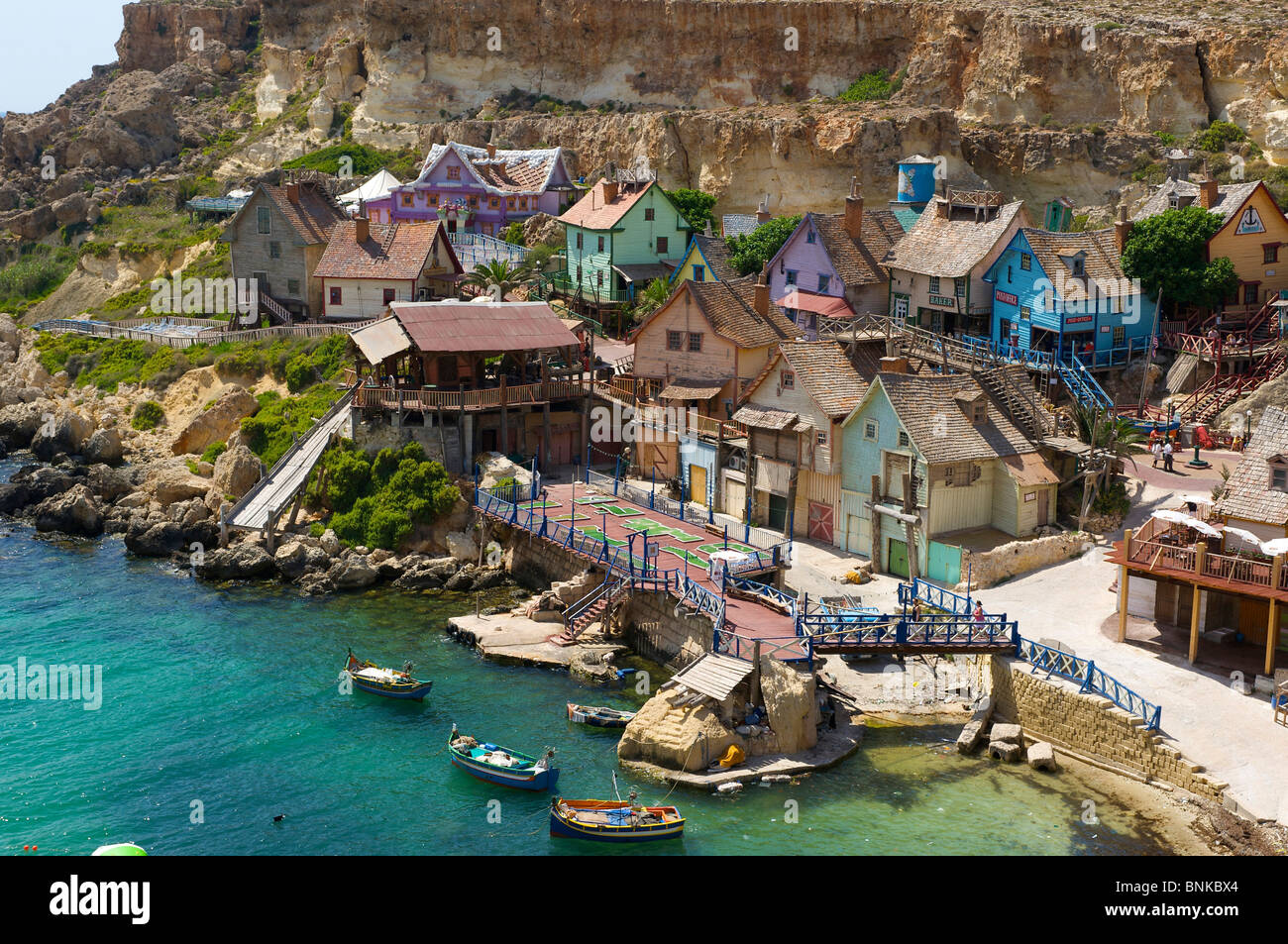 Malta Popeye Village Location Scenery Background Film Movie Spare - Malta vacation