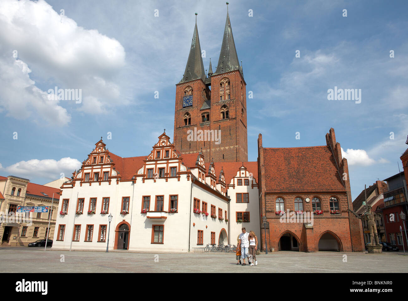 The Town Hall And The Tower Of St Mary S Church Stendal