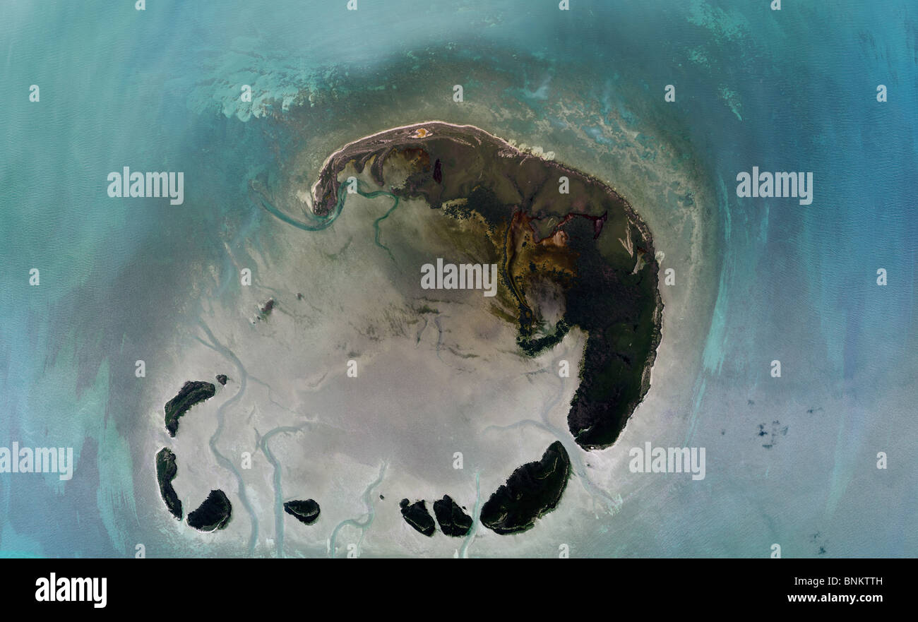 Aerial Map View Above Marquesas Key Florida Keys Stock Photo - Florida keys map art