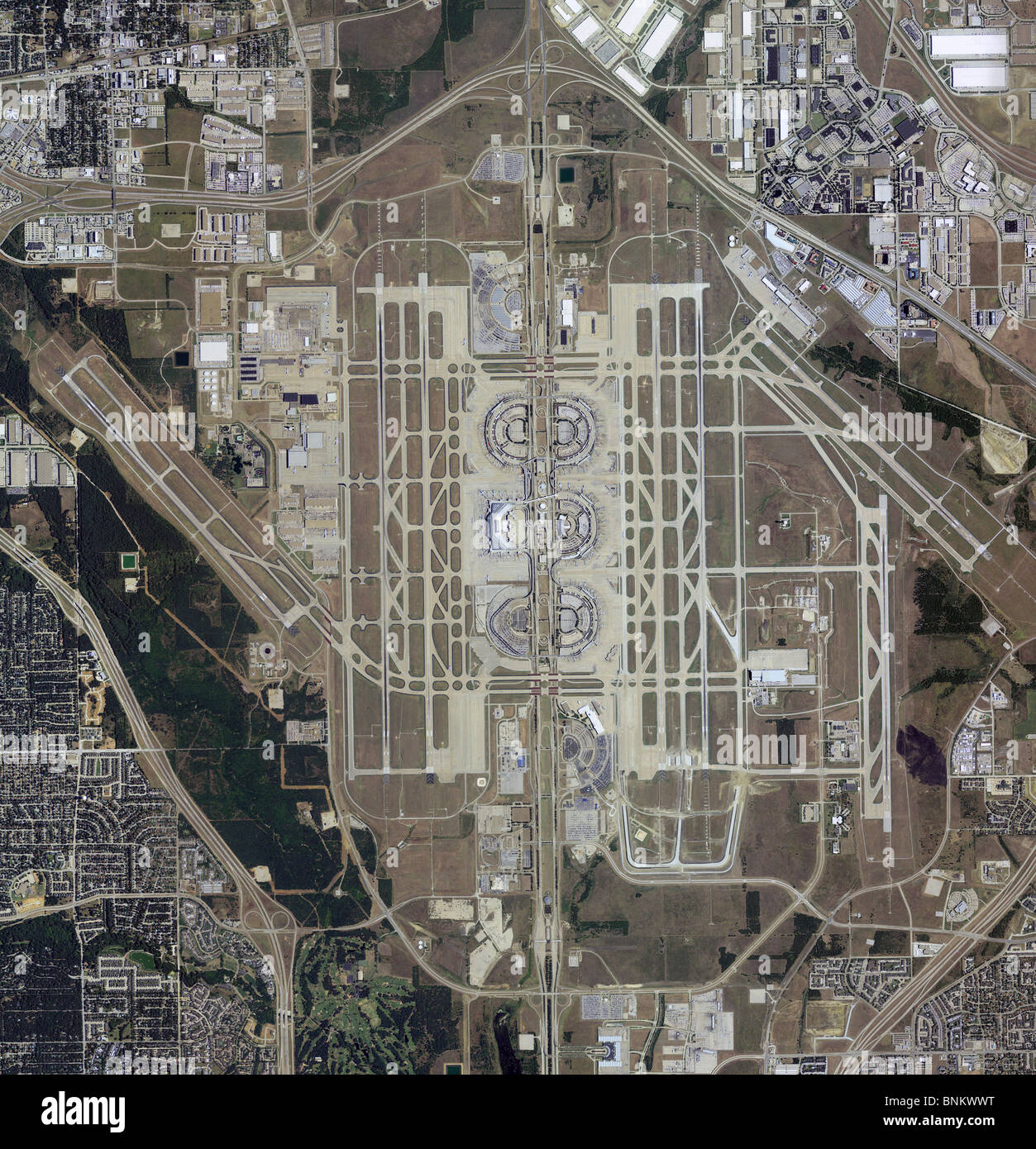 aerial map view dallas fort worth airport dfw texas stock photo  royalty free image  30555556