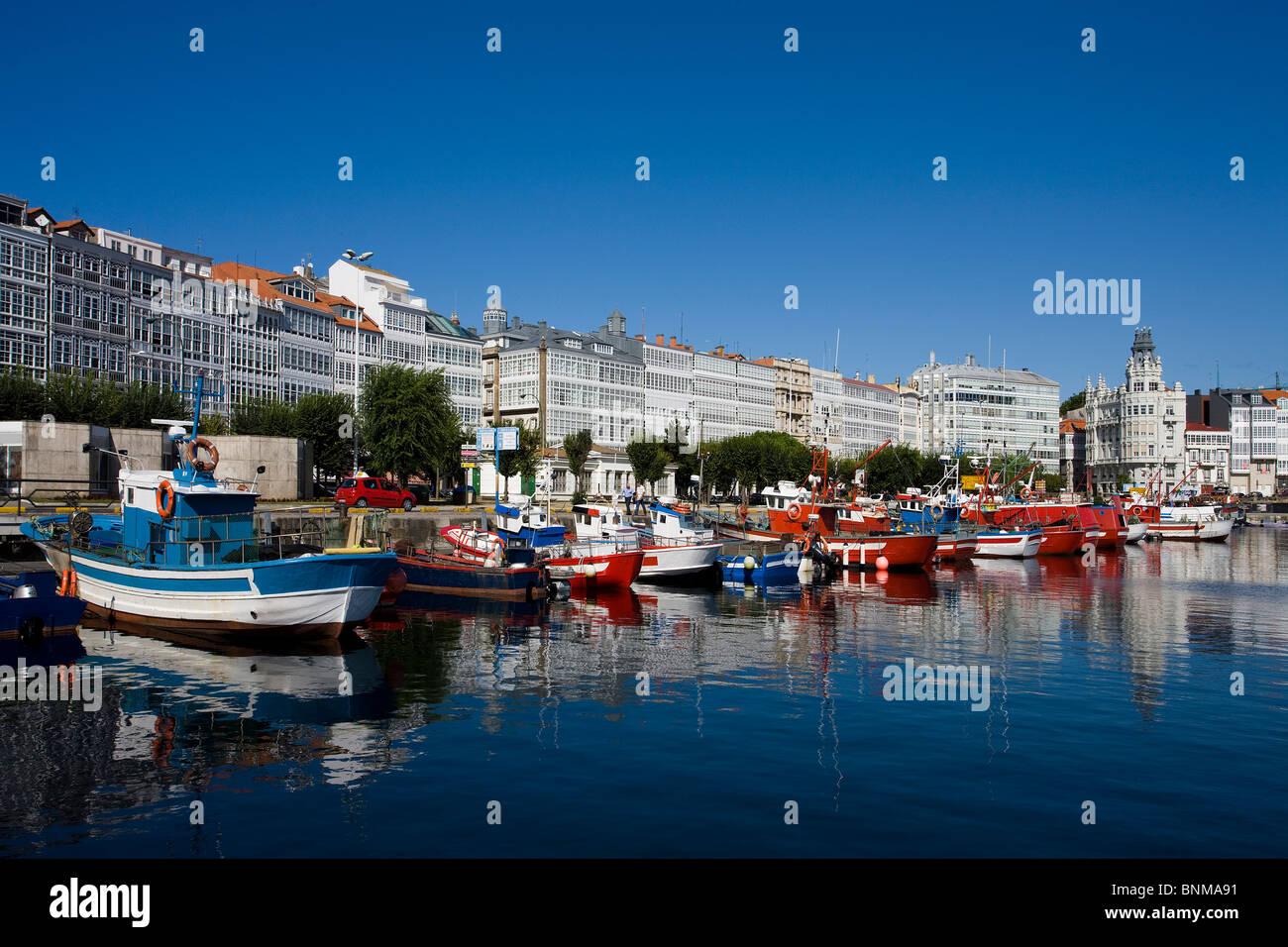 Spain galicia galicia la coruna marina harbour port boat - Mandarina home coruna ...