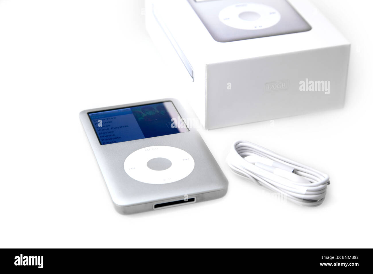 music portable mp3 player apple i pod classic 120gb music player stock photo 30566034 alamy. Black Bedroom Furniture Sets. Home Design Ideas