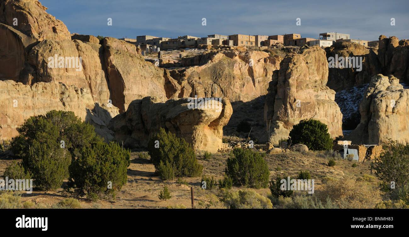 Landscape rocks city acoma pueblo sky city indian pueblo for Landscaping rocks yuba city ca
