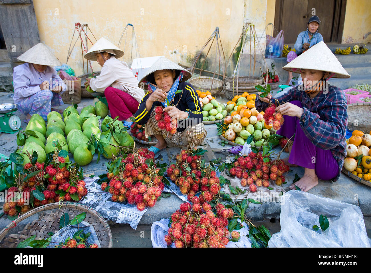 vietnam asia far east hoi an market vegetables market vegetables stock photo vietnam asia far east hoi an market vegetables market vegetables sclerk trade commerce traveling place of interest landmark