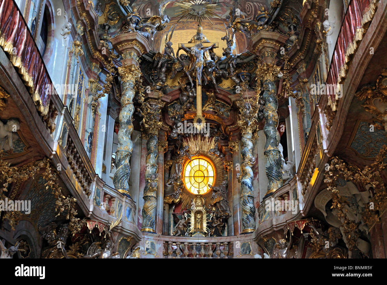 Germany German Europe European Western Architecture Building Munich Bavaria Art Arts Church Religious Interior