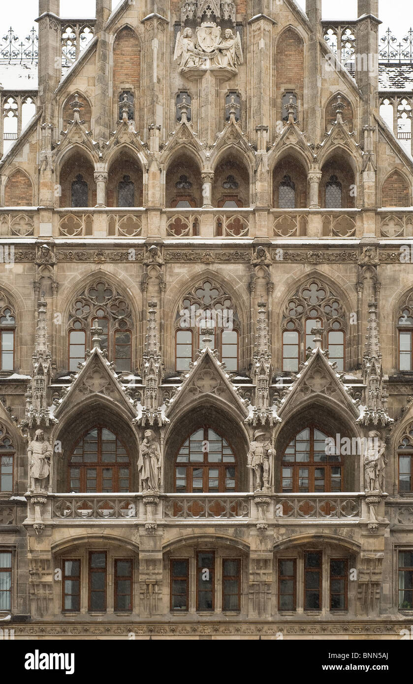 Munich City Hall As Example Of Gothic Revival Architecture