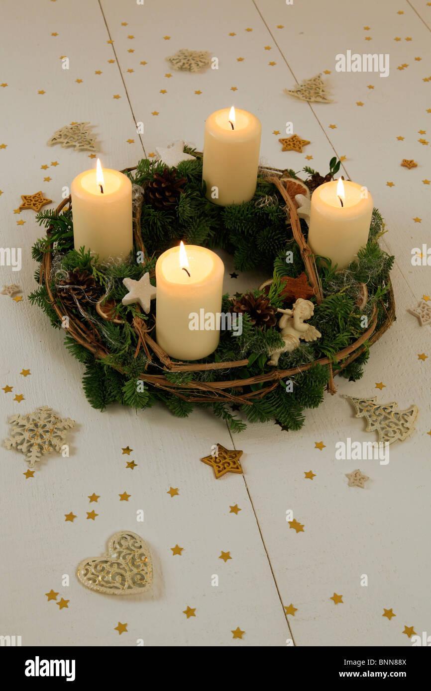 4 advent advent wreath advent time deko decoration. Black Bedroom Furniture Sets. Home Design Ideas