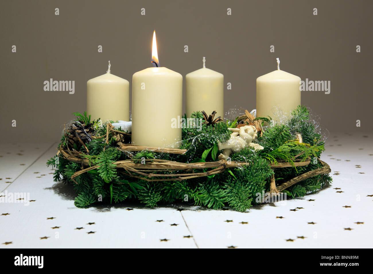 1 4 advent advent wreath advent time deko decoration. Black Bedroom Furniture Sets. Home Design Ideas