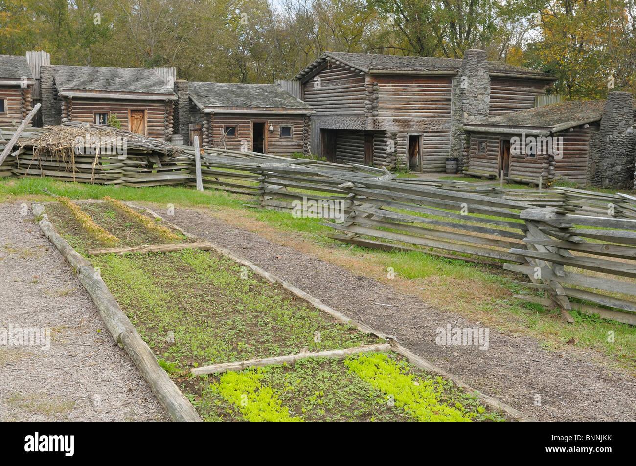 Kitchen Garden Fence Fort Boonesboroughugh State Park Boonesborough Kentucky Usa