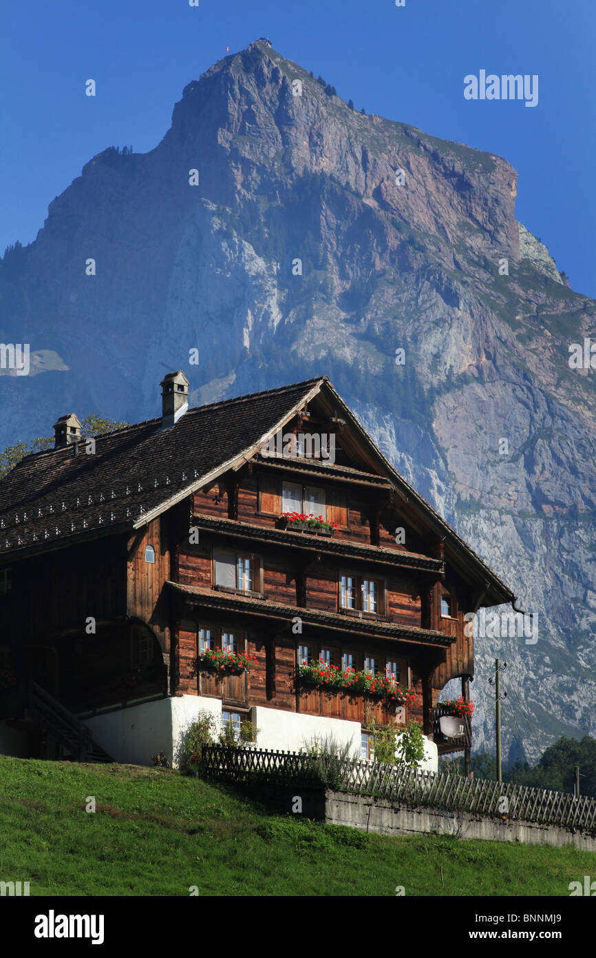 Swiss Mountain House switzerland swiss muotatal timber house typically architecture