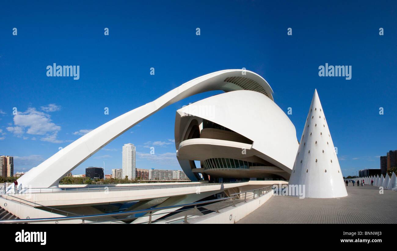 Valencia spain calatrava building construction for Modern building construction