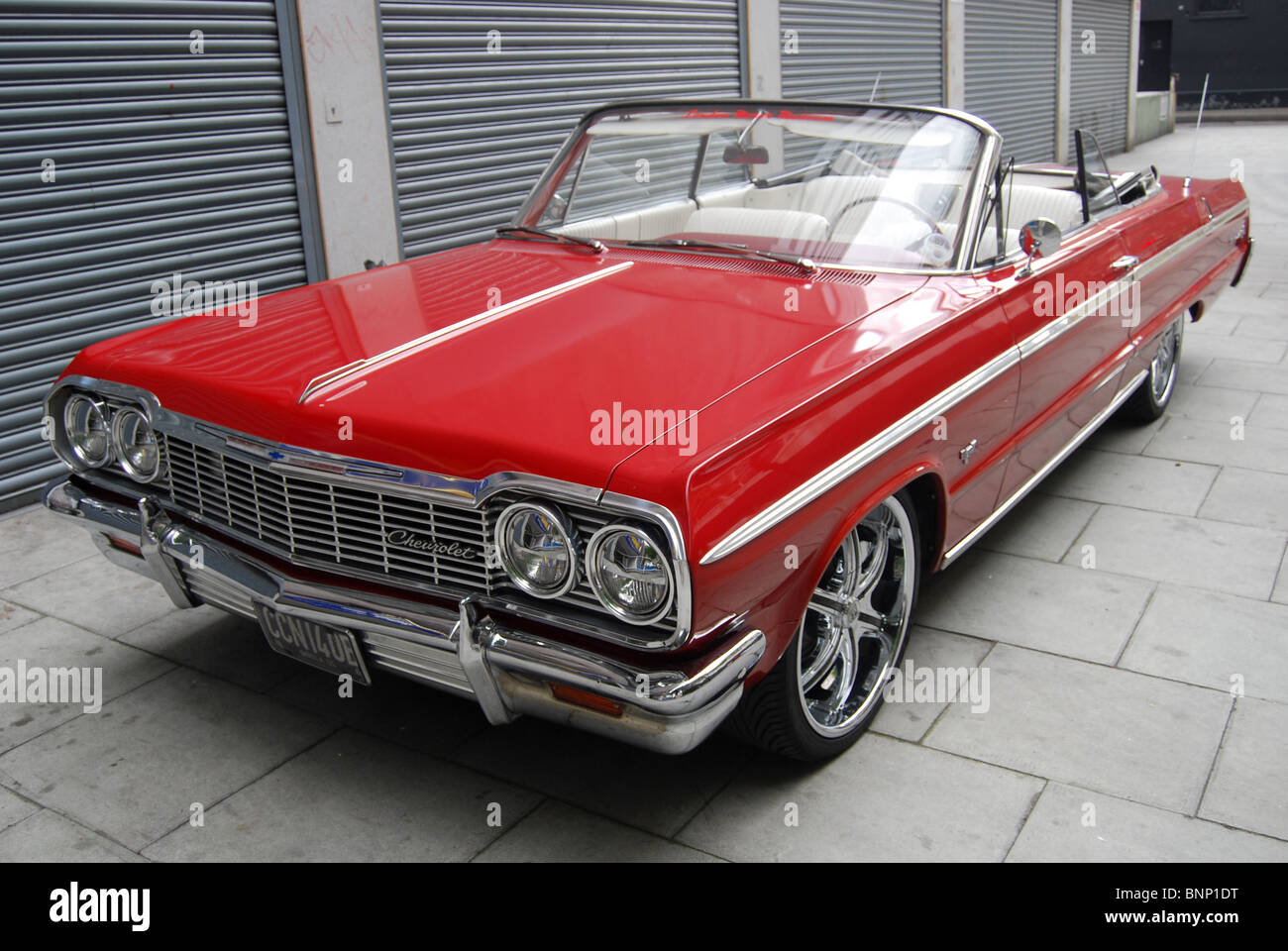 Chevy impala 1960s car red stock image