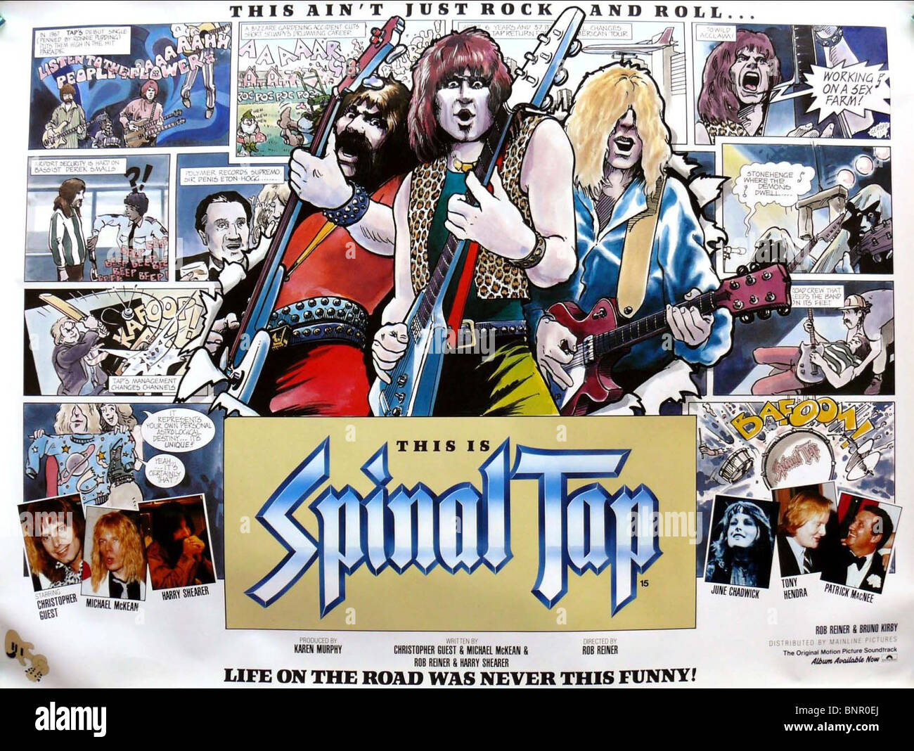 movie poster this is spinal tap 1984 stock photo royalty free image 30623450 alamy. Black Bedroom Furniture Sets. Home Design Ideas