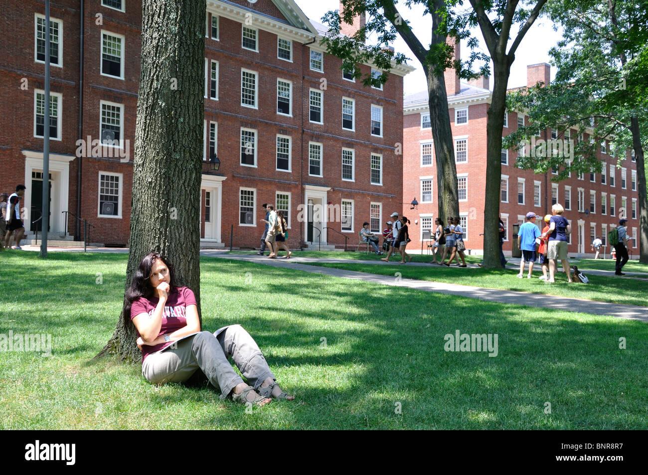 Female Harvard student...