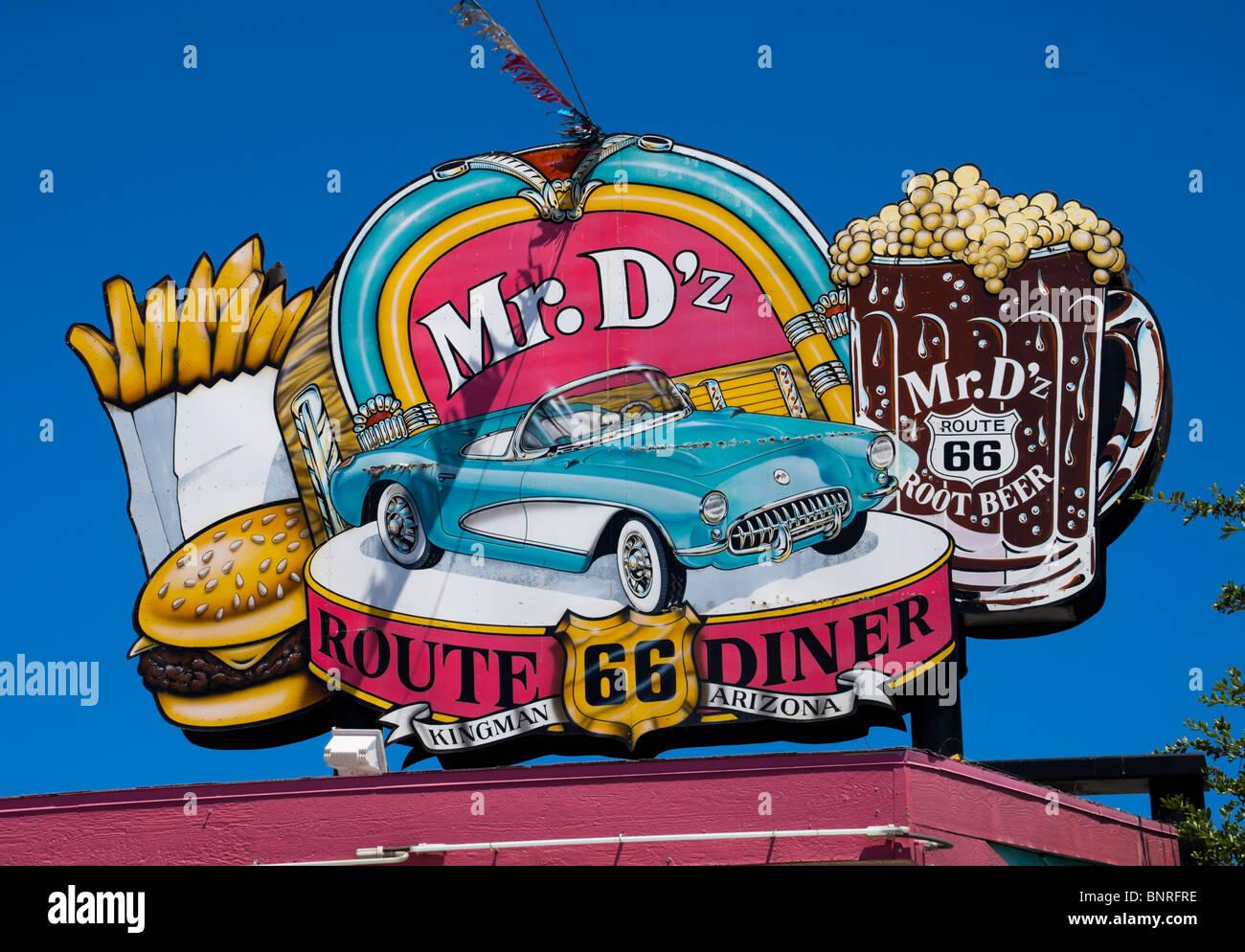 Mr Dz Diner Kingman Arizona USA Stock Photo Royalty Free - Road trip route 66 usa