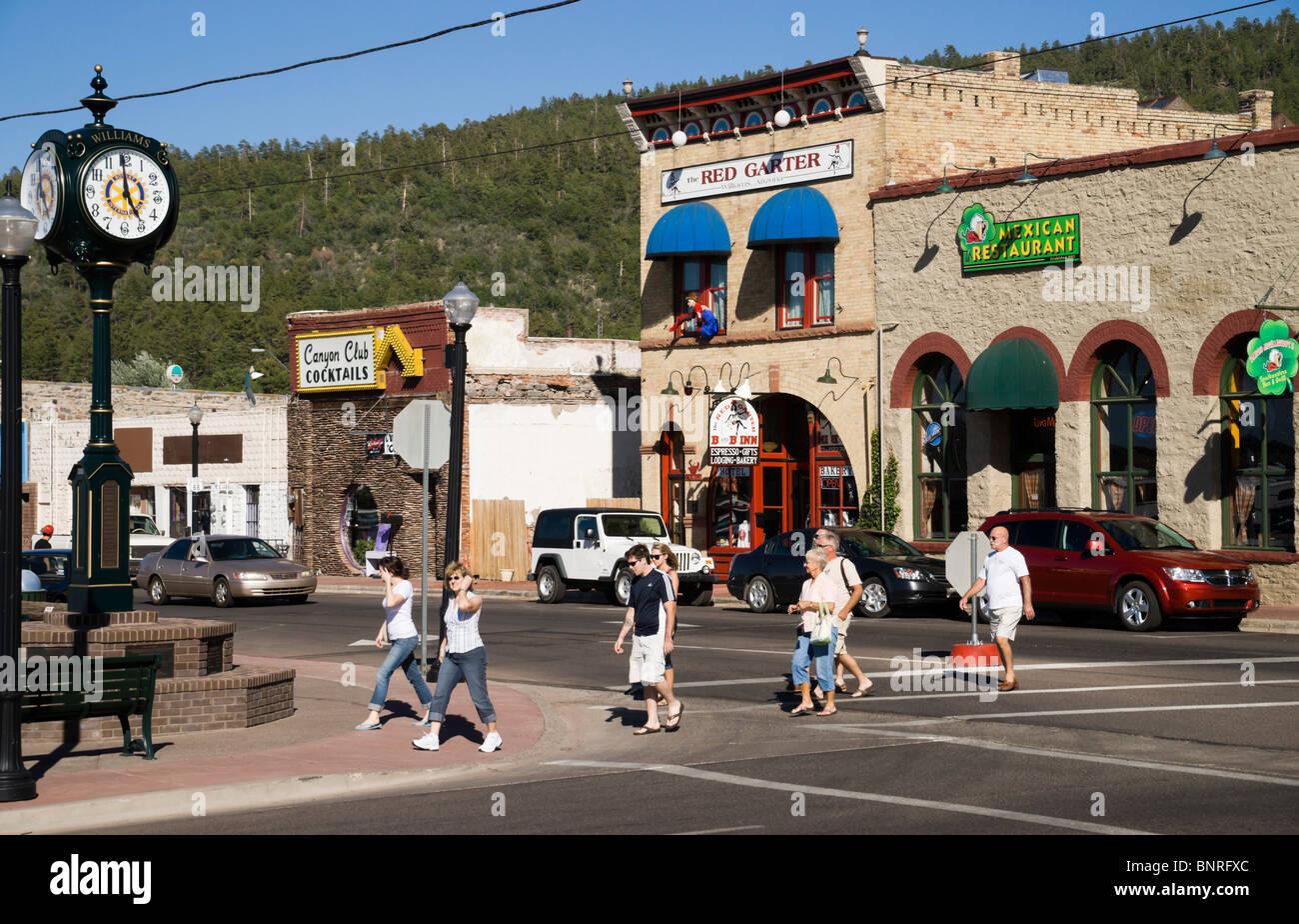 Route 66 road trip Arizona  historic district of Williams AZ