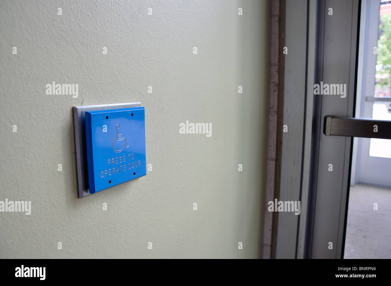 Disabled access to building - automatic doors push button & Disabled access to building - automatic doors push button Stock ...