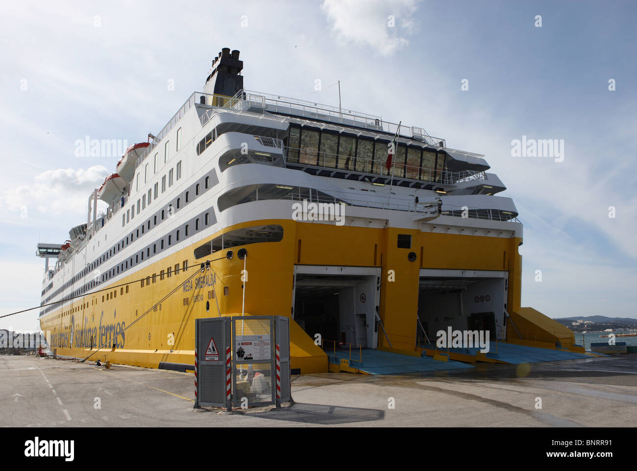 Corsica and sardinia ferry in the port of toulon france stock photo royalty free image - Port toulon corsica ferries ...