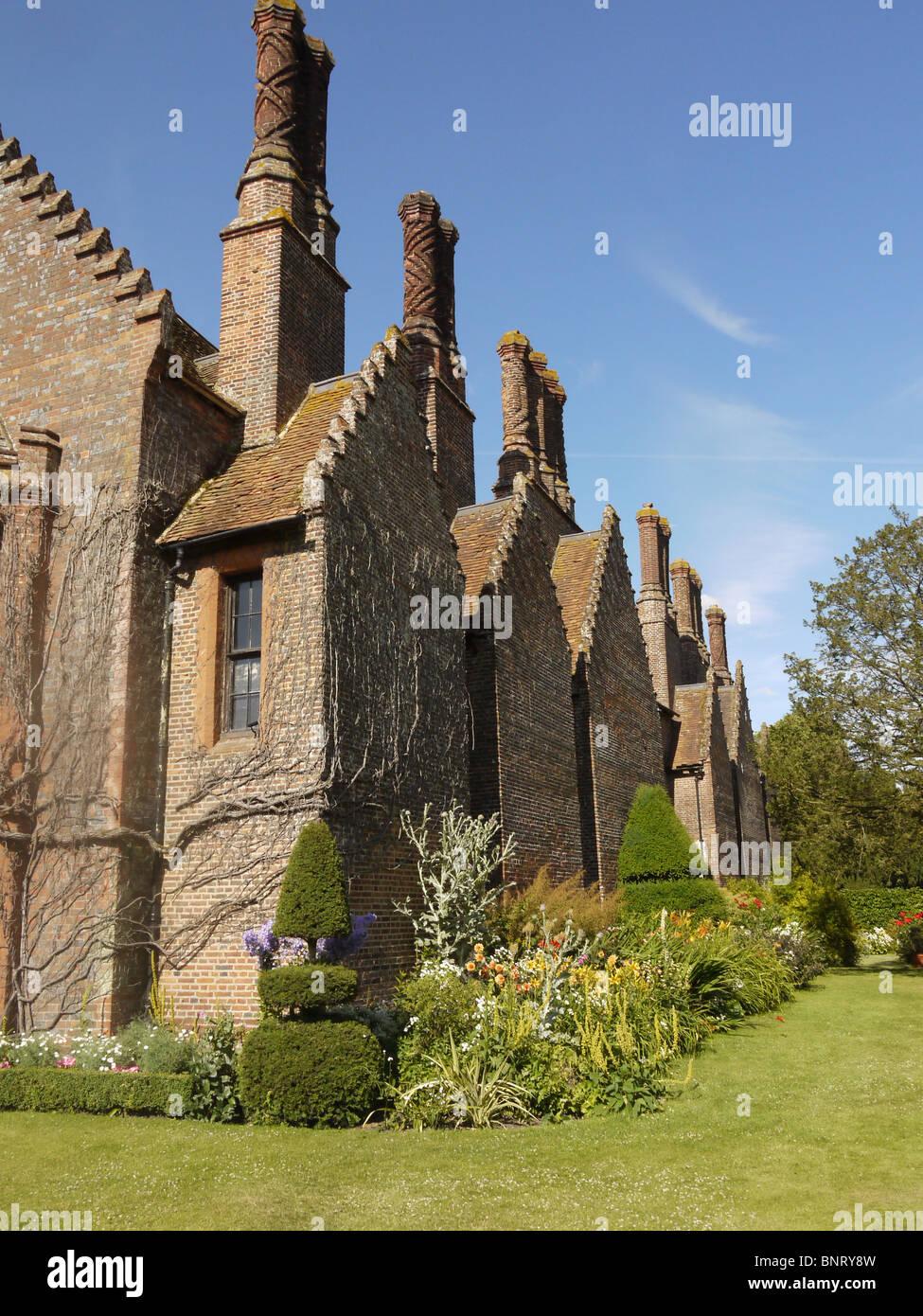 chenies manor house and garden, chenies, buckinghamshire, uk stock