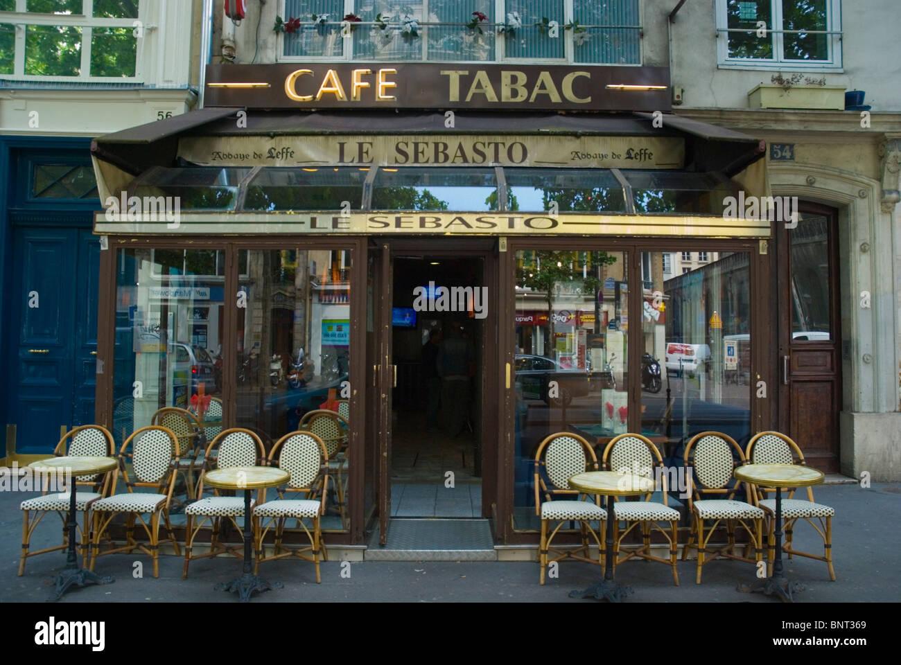 Cafe tabac le sebasto in le marais district central paris for Salon du tabac paris