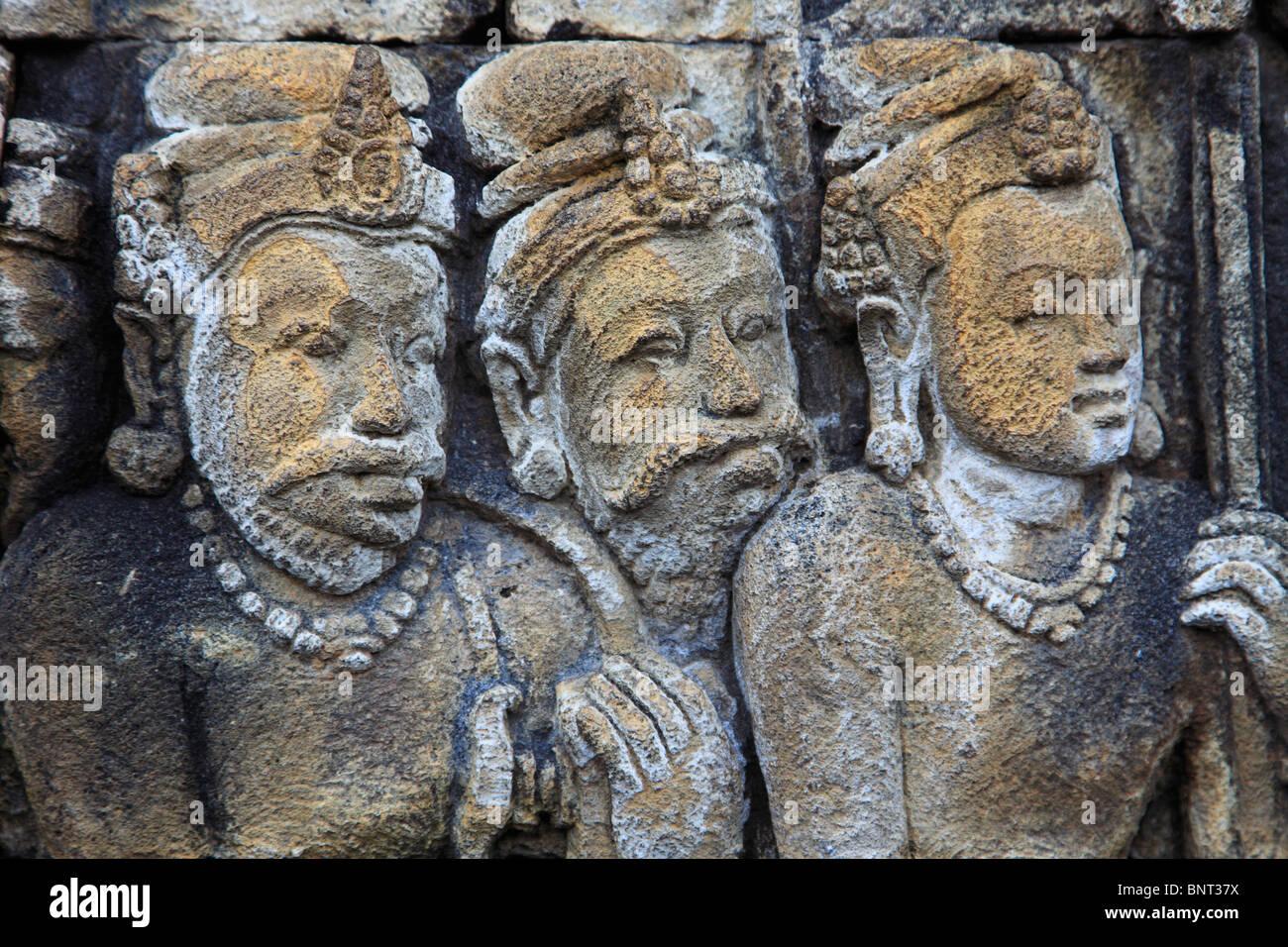 Indonesia java borobudur temple sculpture stone
