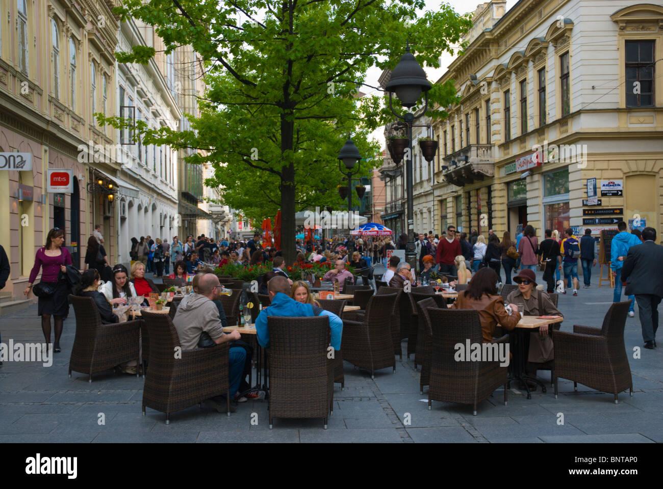 Cafe terrace knez mihailova pedestrian street belgrade for Terrace address