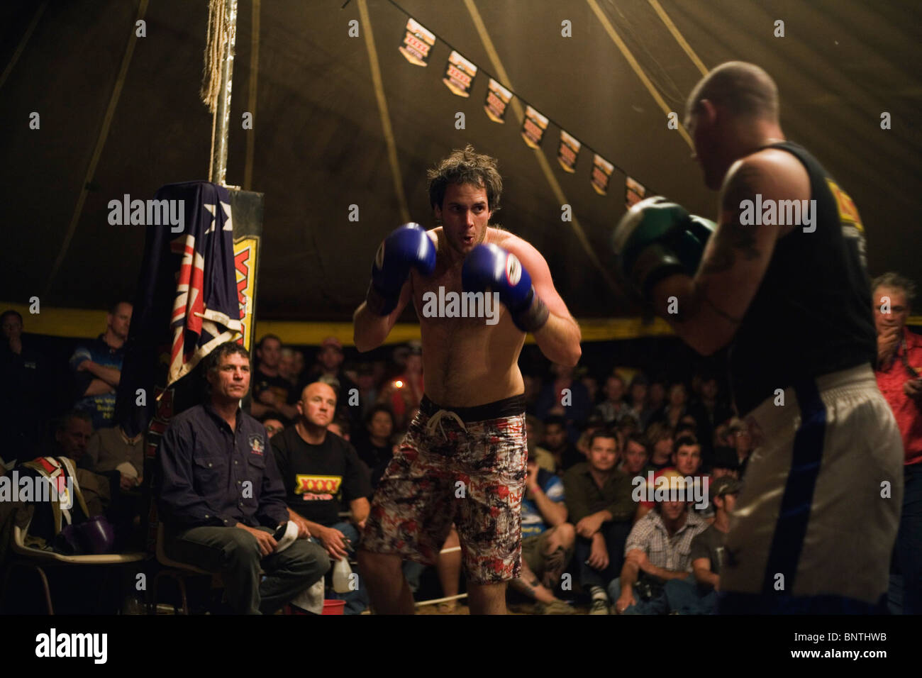 Boxers in action at Fred Brophyu0027s boxing tent during the annual Birdsville Cup races. Birdsville Queensland AUSTRALIA  sc 1 st  Alamy & Boxers in action at Fred Brophyu0027s boxing tent during the annual ...