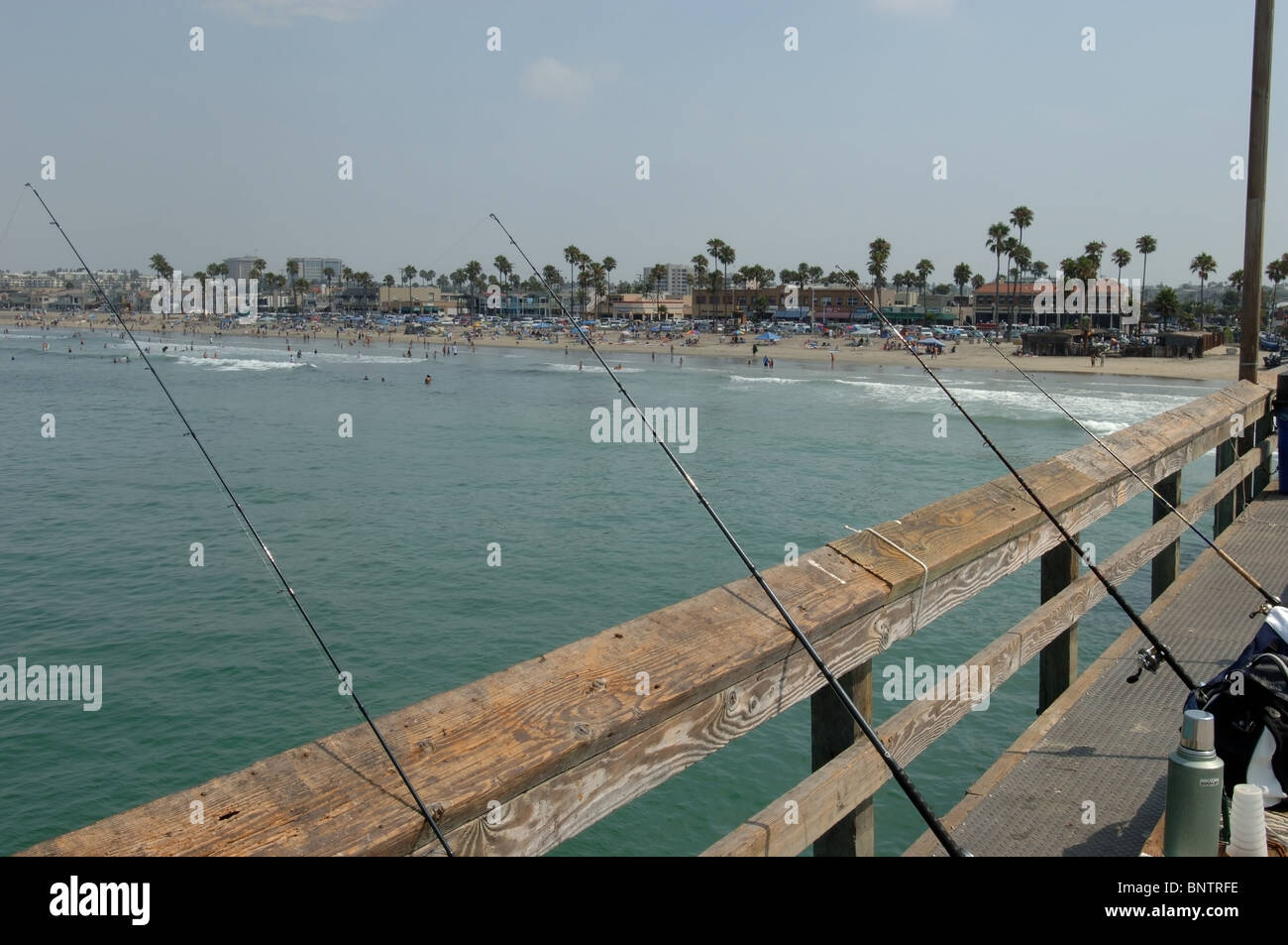 fishing on the newport beach pier in orange county
