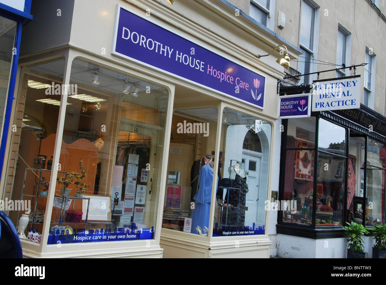 charity shop dorothy house bath somerset uk stock photo
