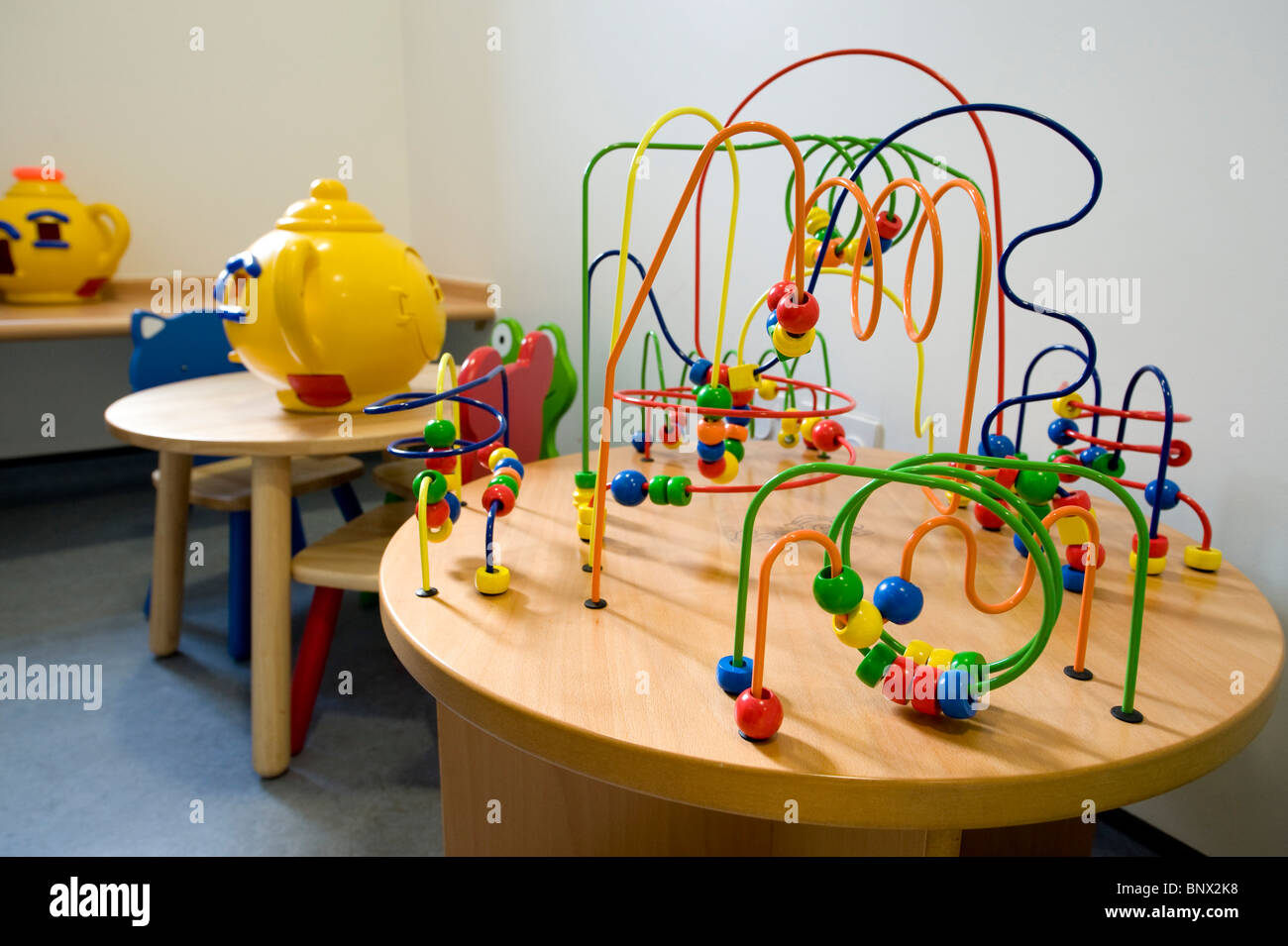A Waiting Room In A Hospital Doctors Surgery With Children