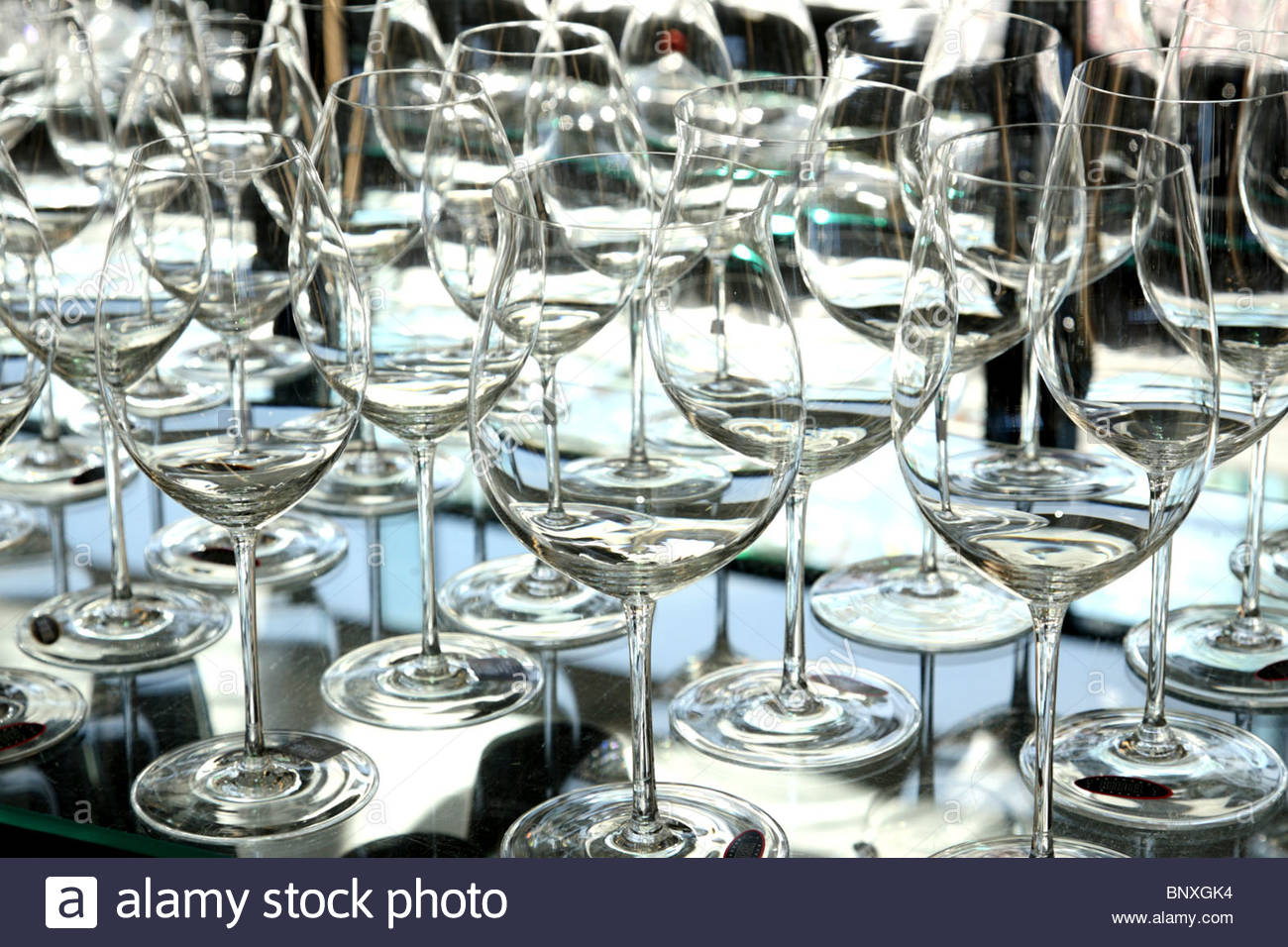 Exceptional Wine Glasses For Sale Part - 6: Crystal Wine Glasses Made By Riedel For Sale In Riedel Kufstein Shop.  Kufstein, Tyrol Province, Austria