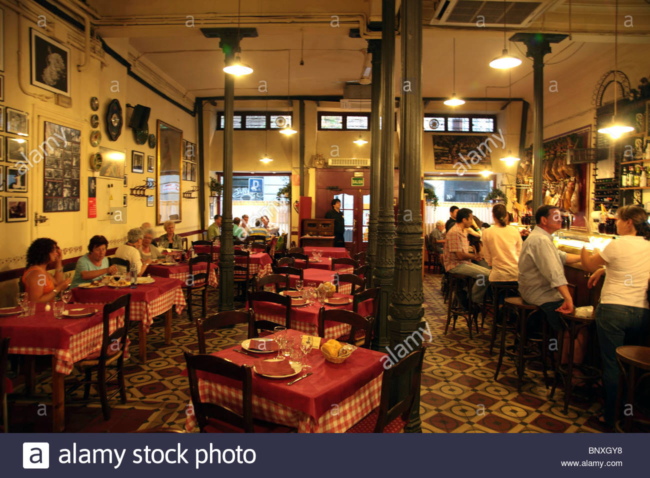 the interior view of the traditional flamenco show restaurant casa stock photo 30702204 alamy. Black Bedroom Furniture Sets. Home Design Ideas
