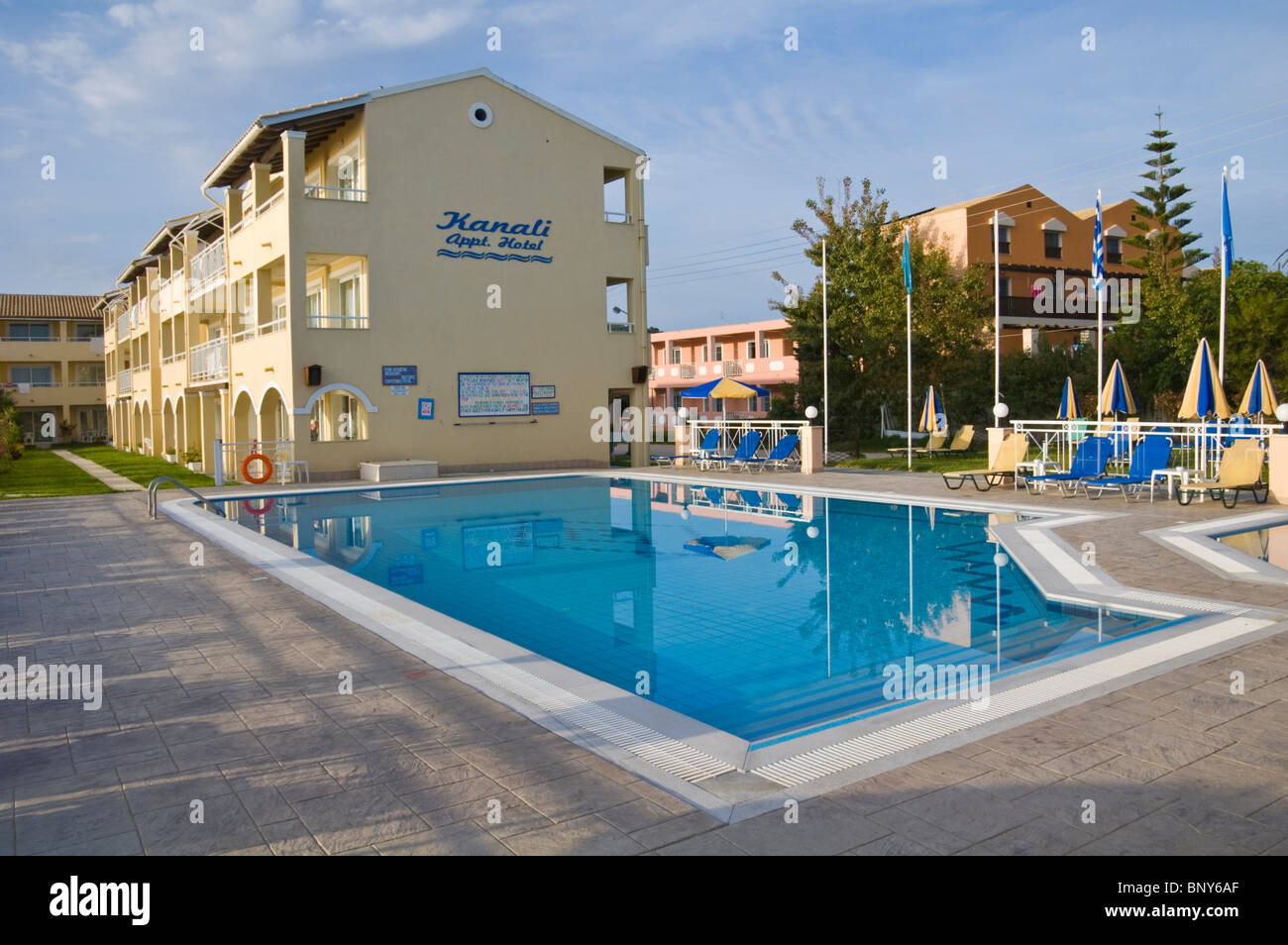 Exterior Of Kanali Apartments With Swimming Pool At Sidari
