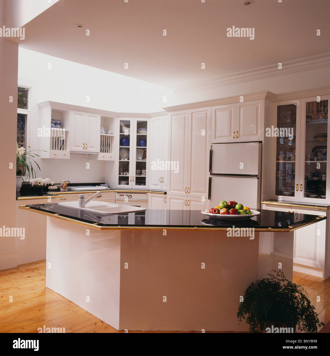 Kitchen Worktop Granite Black Granite Kitchen Worktop Stock Photos Black Granite Kitchen