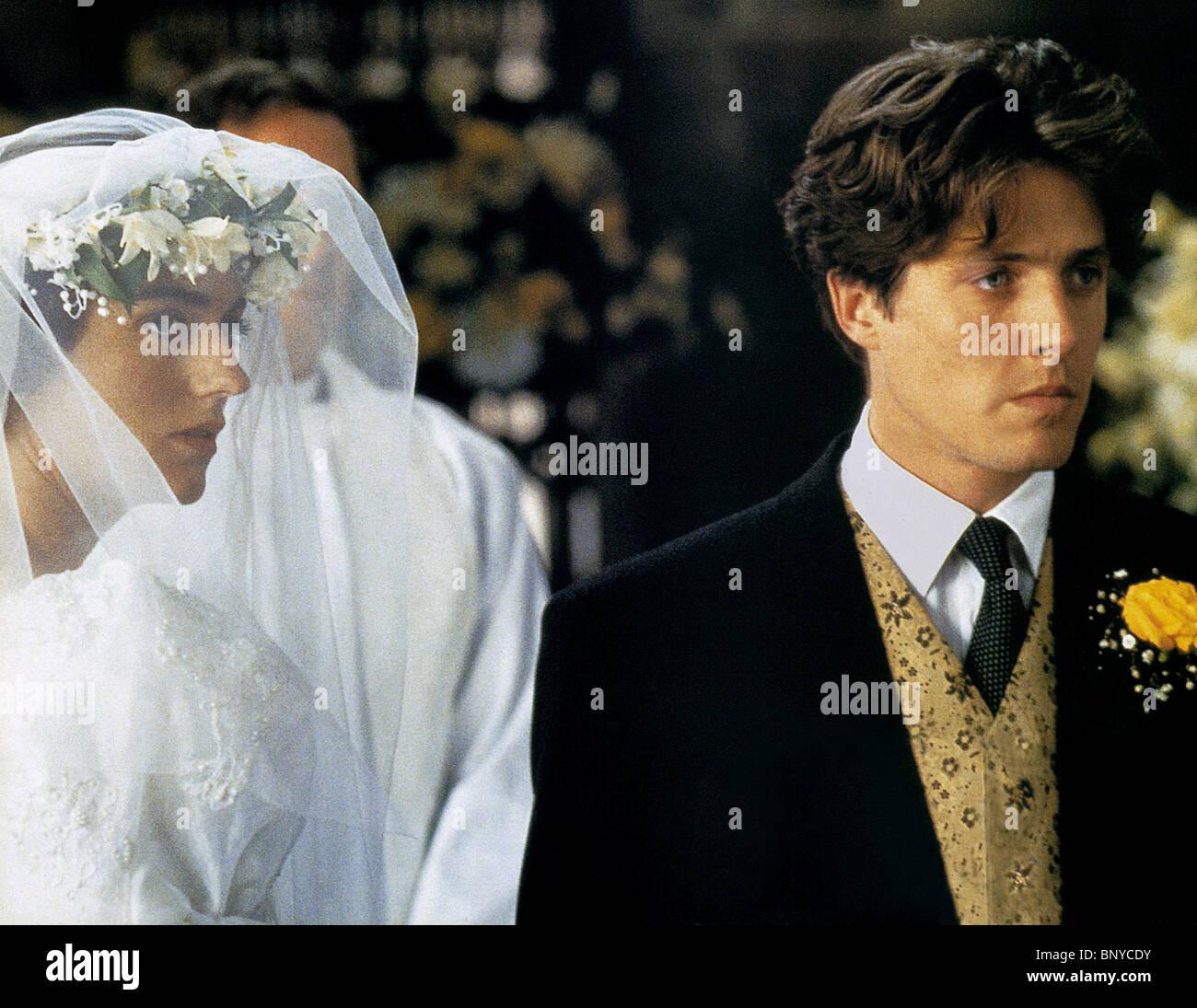 ANNA CHANCELLOR & HUGH GRANT FOUR WEDDINGS AND A FUNERAL ...