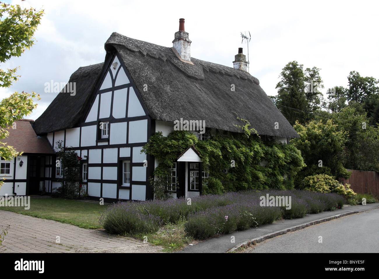 Thatched cottage ladbroke warwickshire england the village is stock photo royalty free - The thatched cottage ...