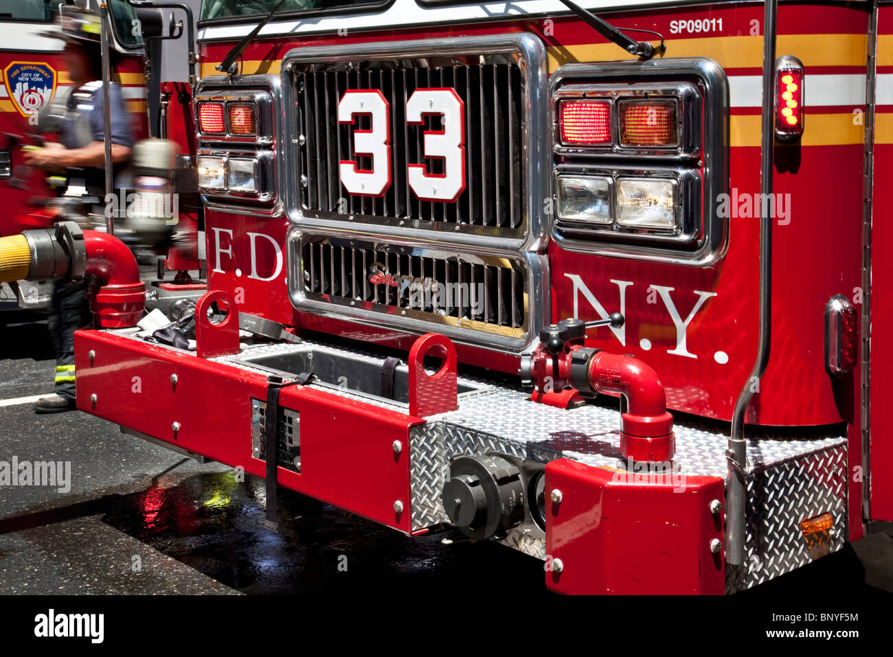 Tow Truck Houston >> FDNY fire truck front grill Stock Photo, Royalty Free Image: 30722768 - Alamy