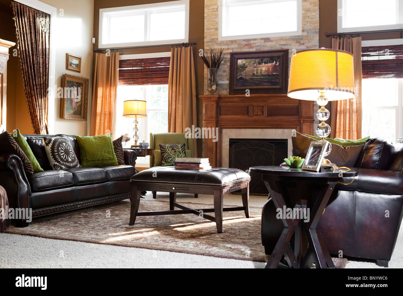 American Living Room In Countryside House In Midwest, With Matching Colors Part 66