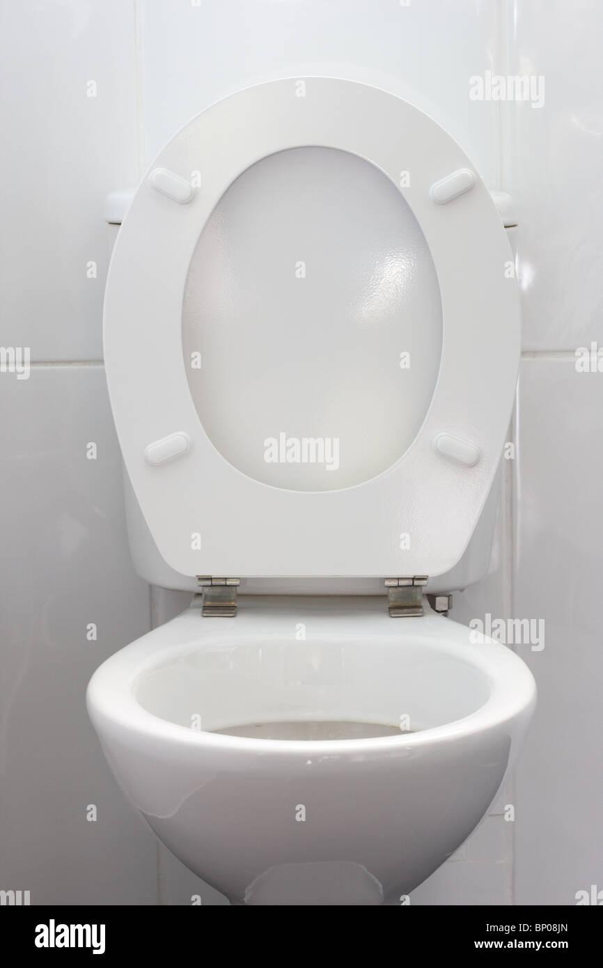Toilet Seat Stock Photos  Toilet Seat Stock Images Alamy - White toilet with black seat