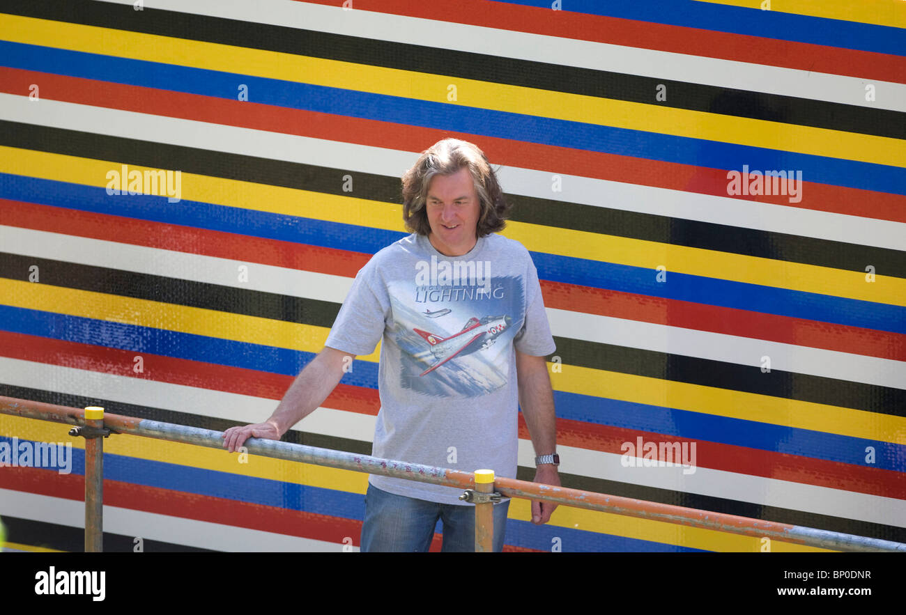 Television presenter James May builds a life size Lego house ...