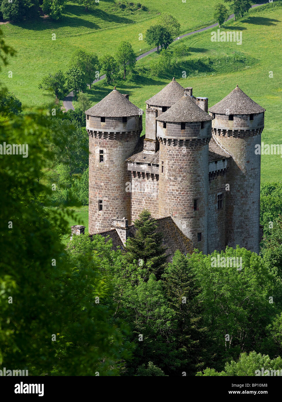 France  Auvergne  Cantal  Tournemire  Anjony Castle Stock Photo  Royalty Free Image  30755320