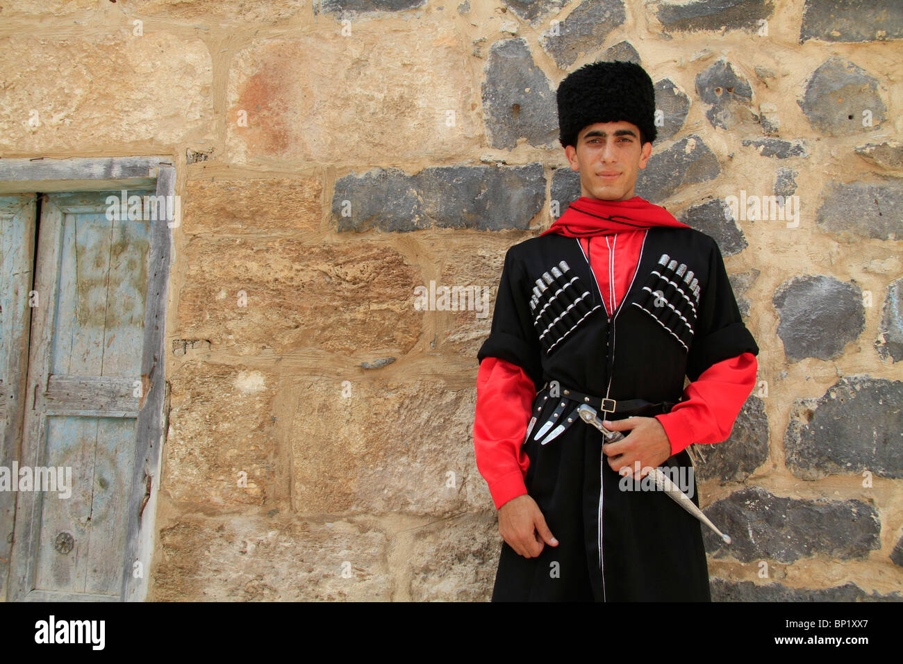 israel lower galilee circassian man in traditional