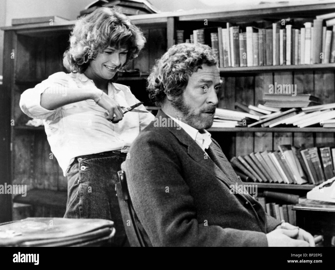 julie walters michael caine educating rita stock photo  julie walters michael caine educating rita 1983