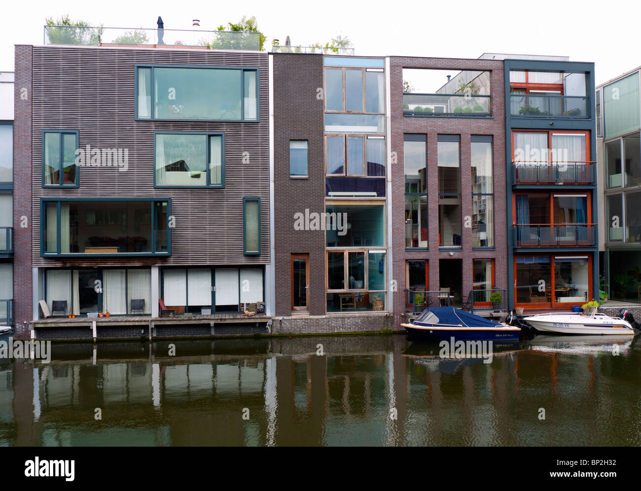 Modern Architecture Netherlands modern architecture of new houses beside canal on borneo island