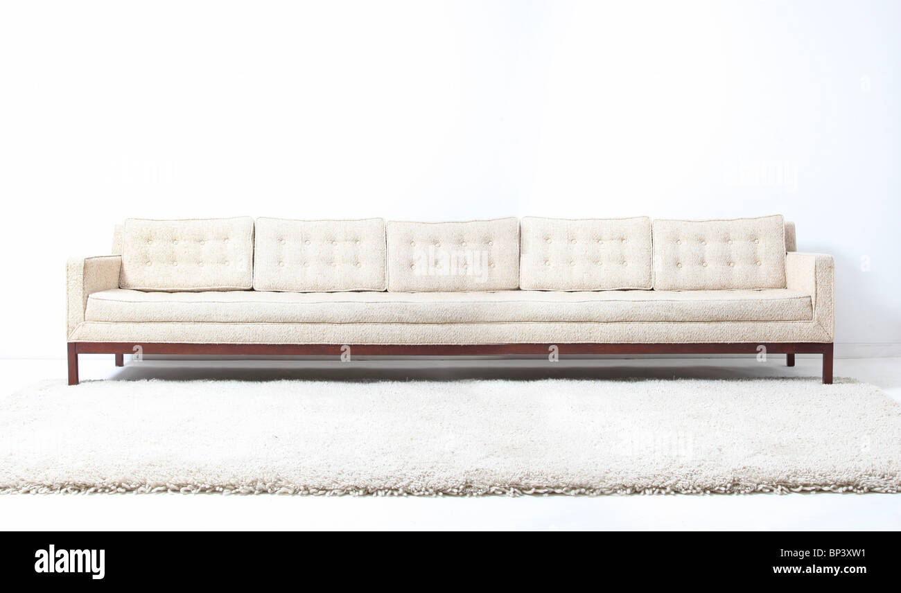 very long white modern sofa couch stock photo royalty. Black Bedroom Furniture Sets. Home Design Ideas